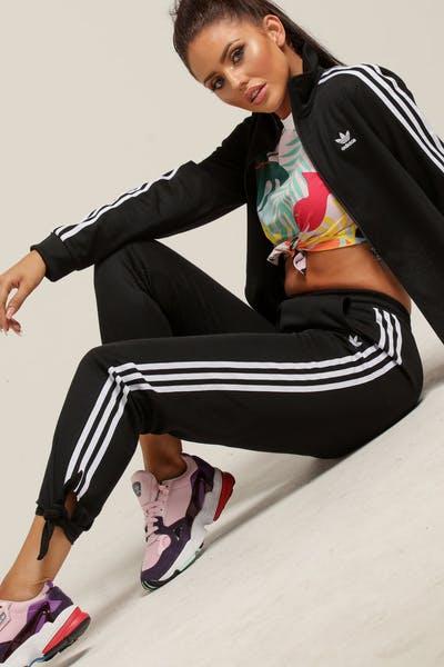 b7df28c35f1 Adidas Women s Floral Tracksuit Pants Black