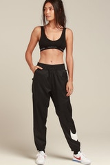 NIKE WOMEN'S NSW PANTS BLACK/WHITE