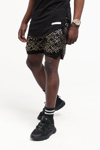 Saint Morta Royalty Basketball Shorts Black/Gold
