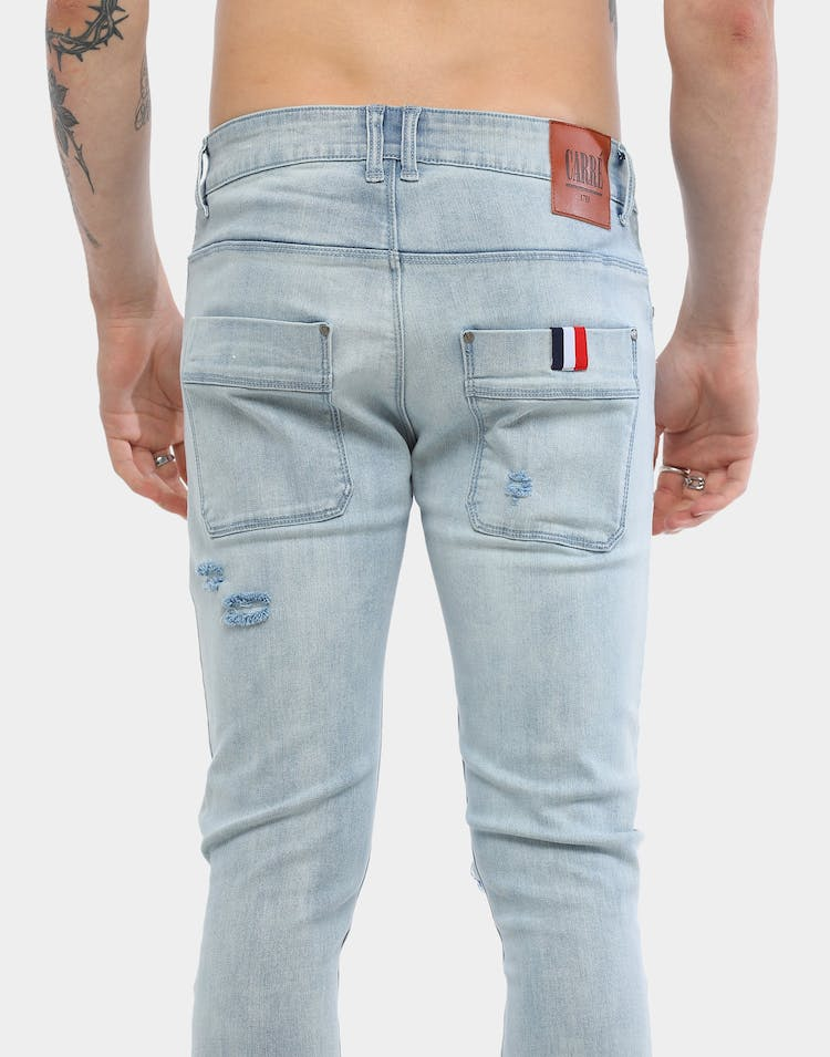 Carré Endommage Jean Tall Light Blue