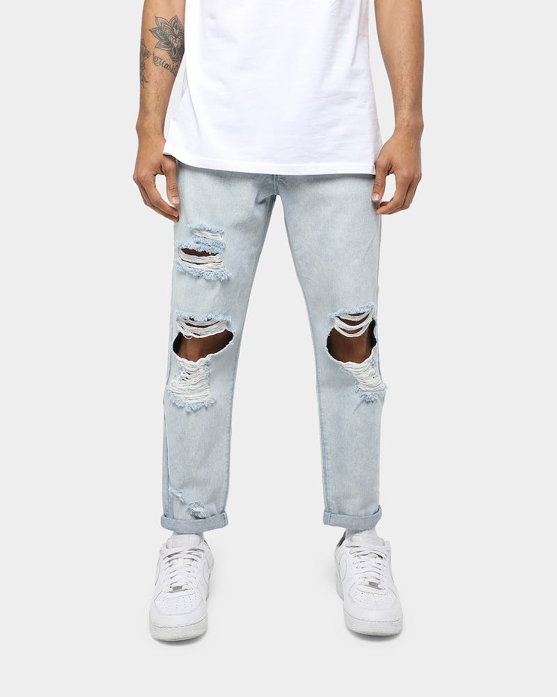 Carré Robuste Turn Up Slim Jean Blue Wash