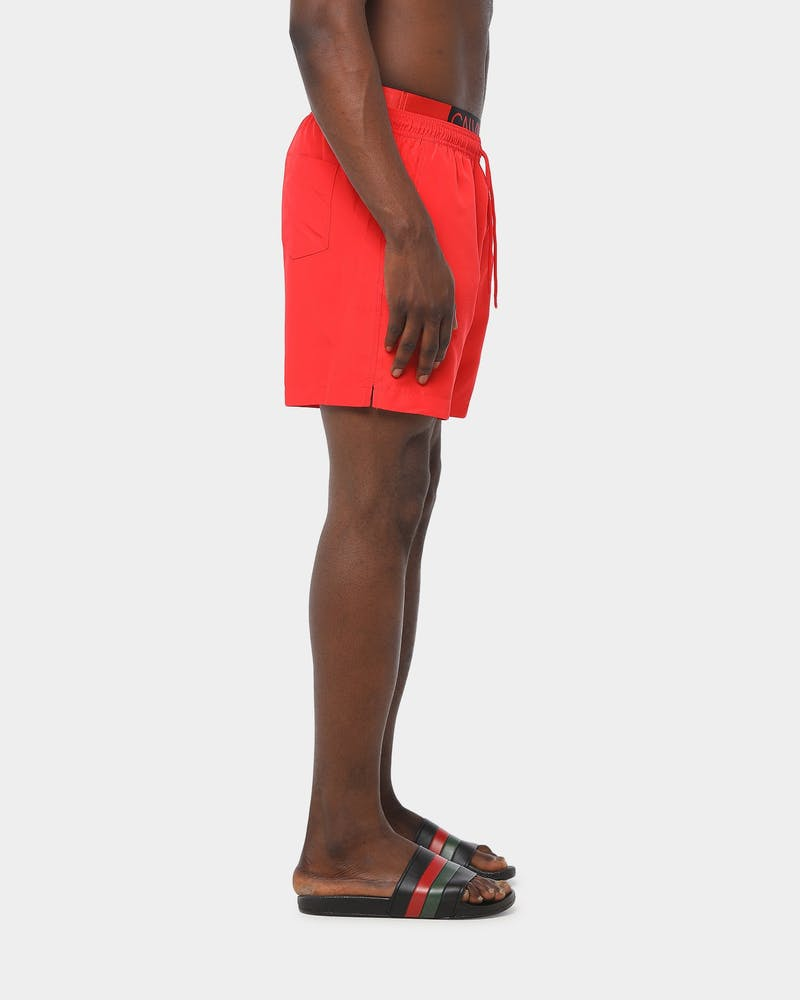 Calvin Klein Core Solids-S Med Double Waistband Short Flame Scarlet