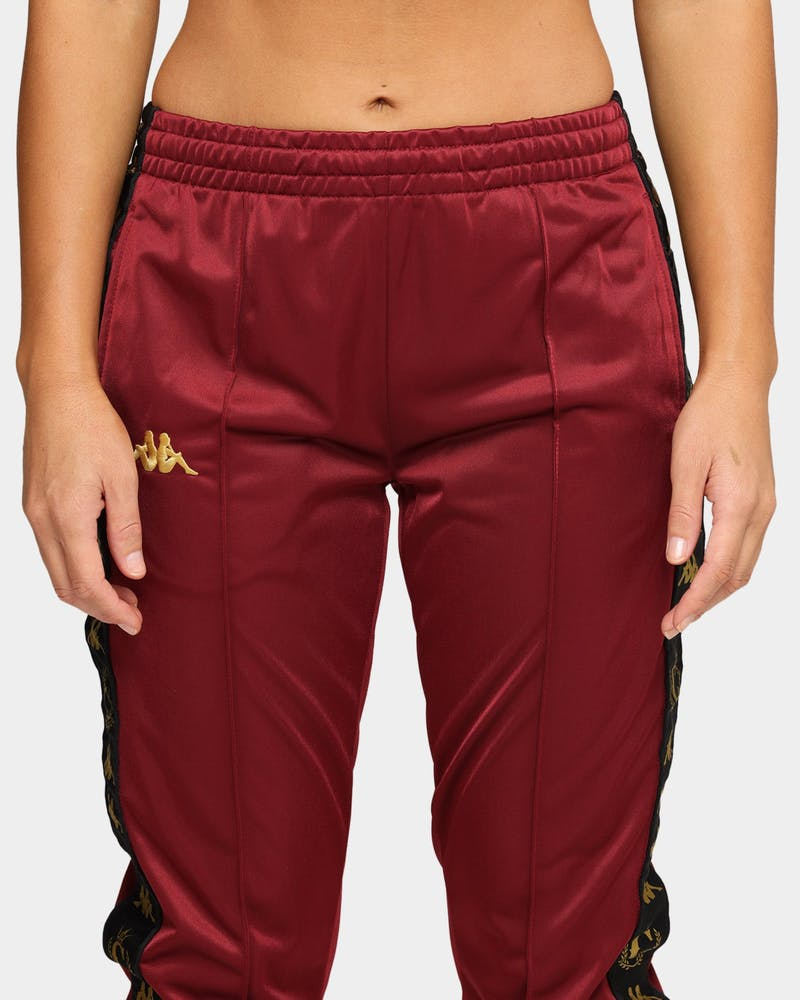 Kappa Kappa x Culture Kings Authentic Karmine Trackpant Burgundy/Gold