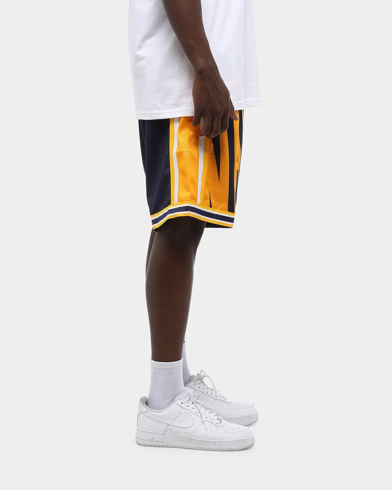 Mitchell & Ness Men's Golden State Warriors Big Face NBA Short Navy