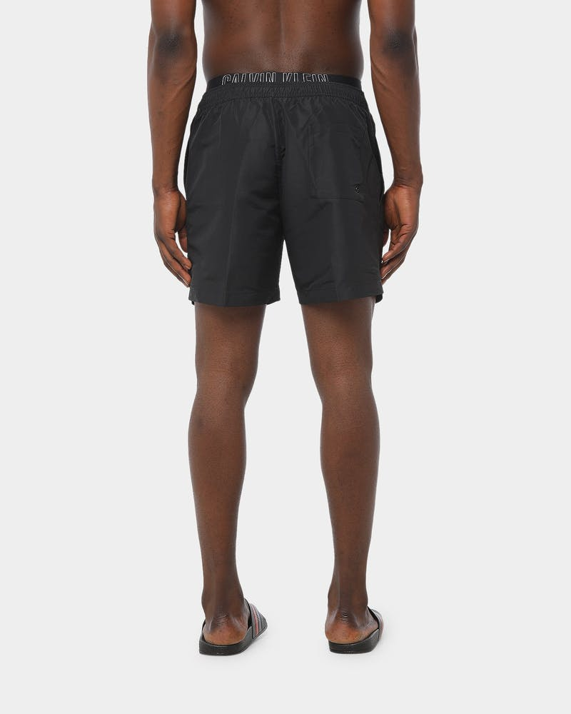 Calvin Klein Intense Power 2.0-S Med Double Waistband Short Black