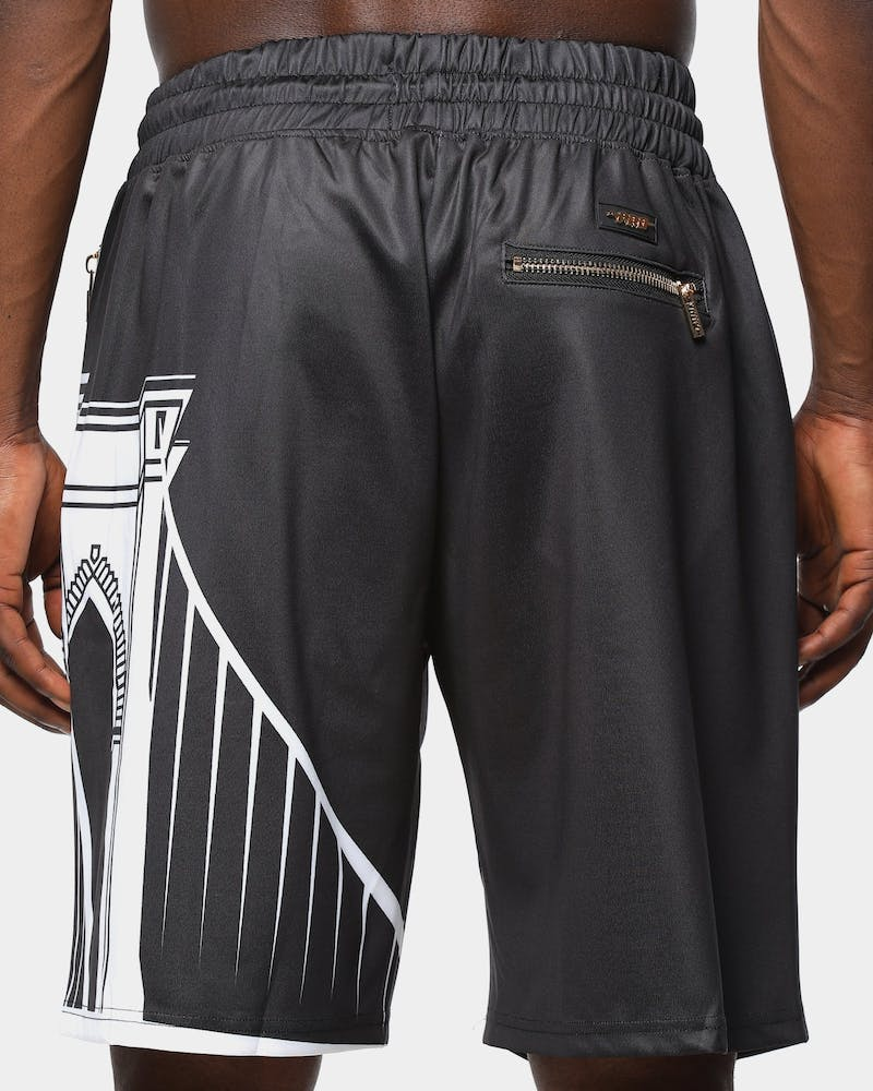 Black Pyramid Men's Brooklyn Nets Logo Short Black