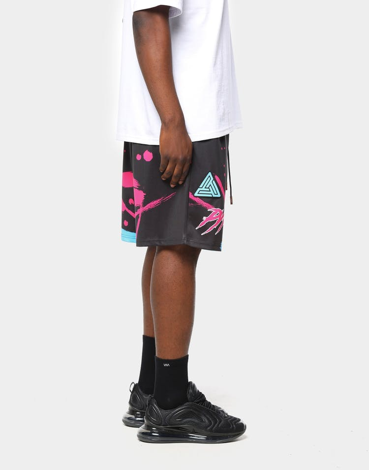 Black Pyramid Men's Miami Heat Vice Team Logo Short Black