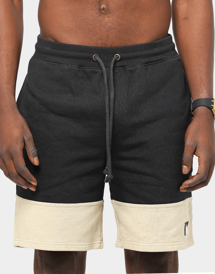 Russell Athletic x Culture Kings Heavy Panelled Track Short Black/Stone
