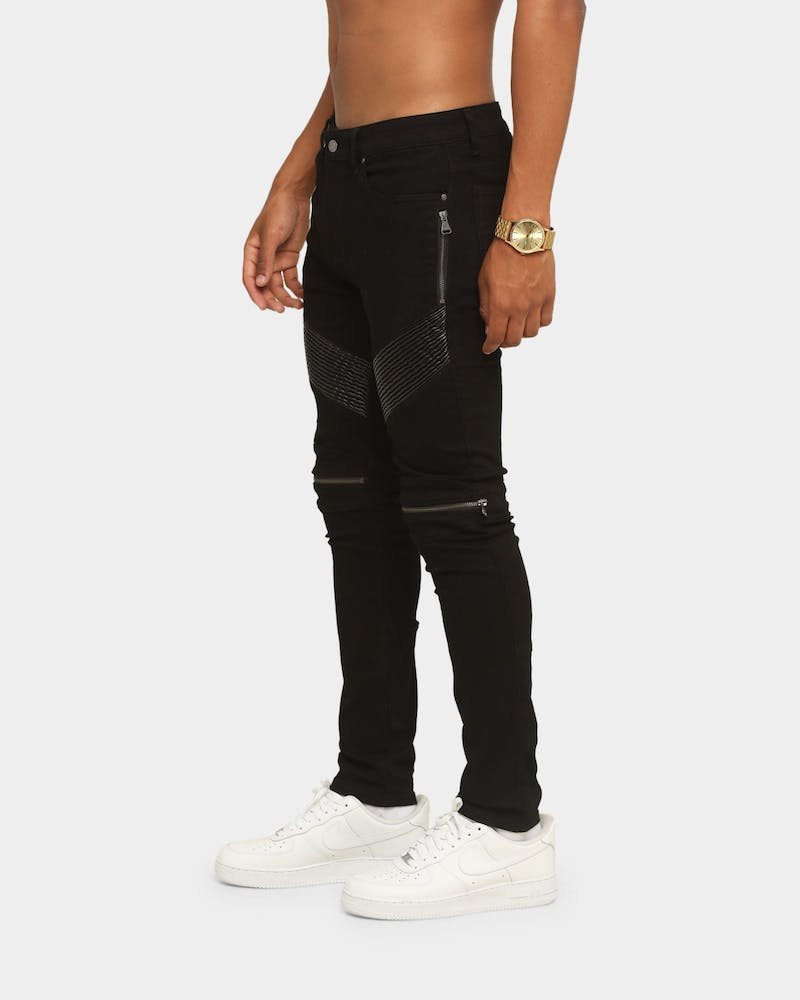 Carré Men's Moto Man Jean Black