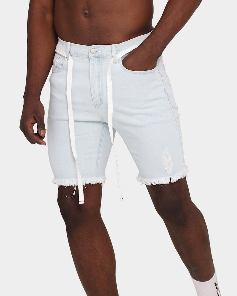 Saint Morta Represent Denim Shorts Light Blue