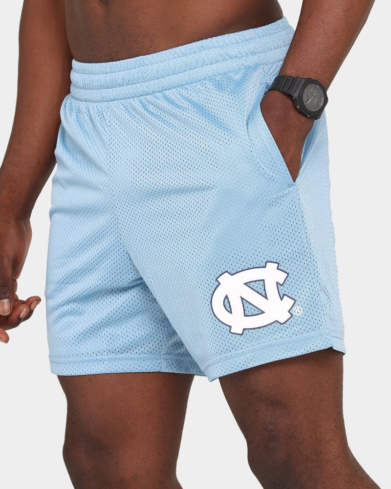 NATIONAL COLLEGIATE ATHLETIC ASSC UNC Basketball Training Shorts Sky Blue