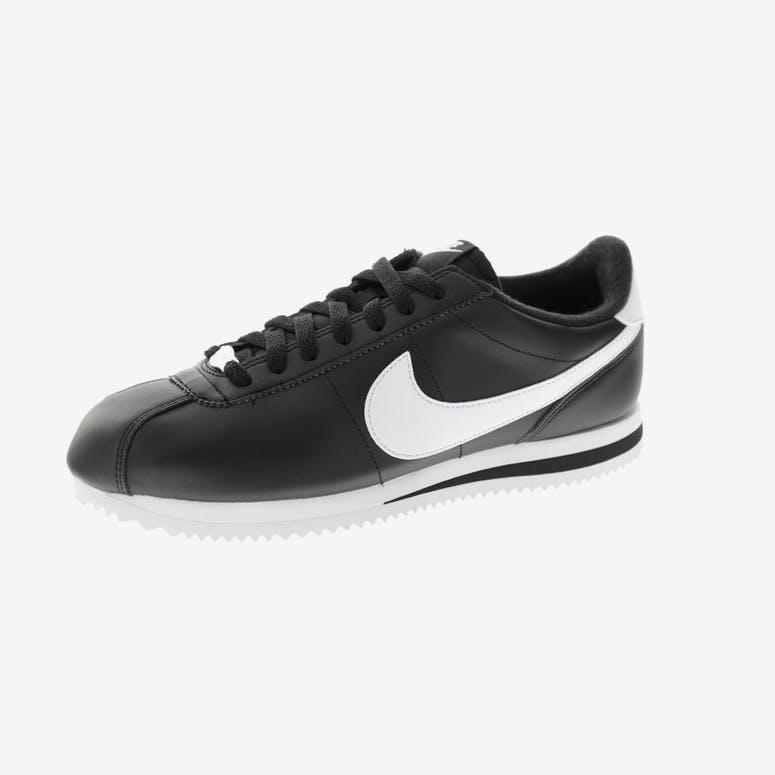 b92f0324d94 Nike Cortez Basic Leather Black white sil – Culture Kings