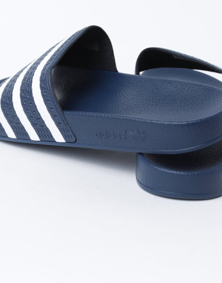 b8568b596eff Adidas Originals Adilette Slide Navy White