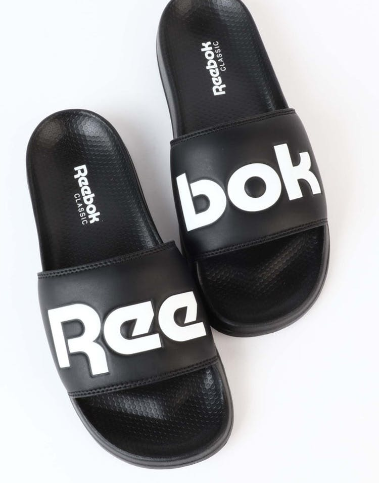 c1283113a Reebok Classic Slide Black White