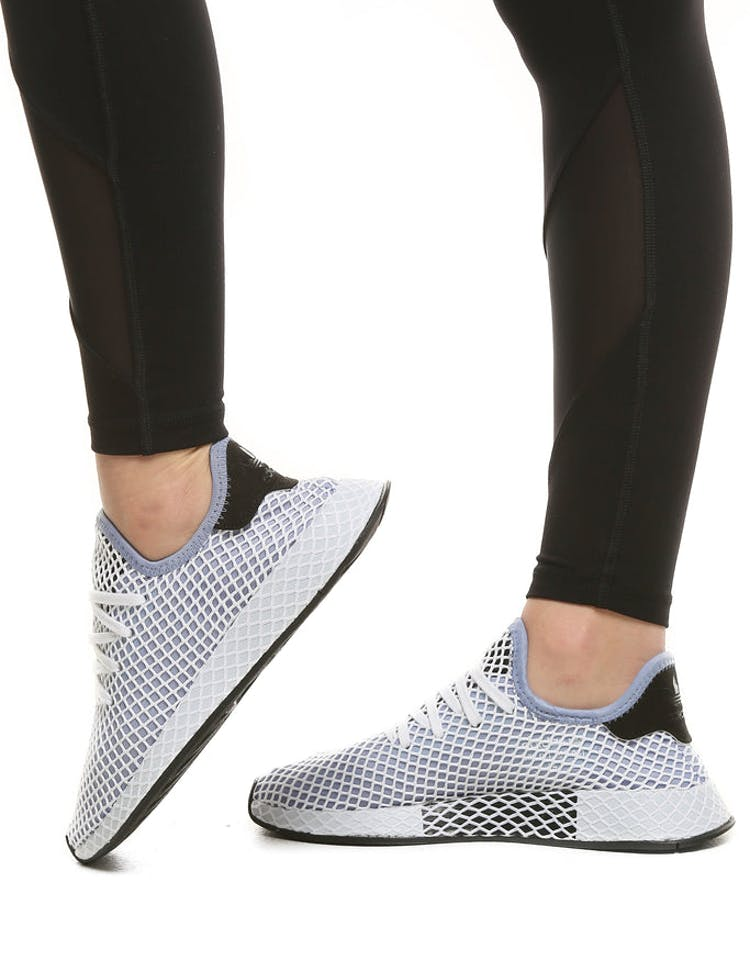 a6678a8d40c48 Adidas Originals Women s Deerupt Runner Blue Black White