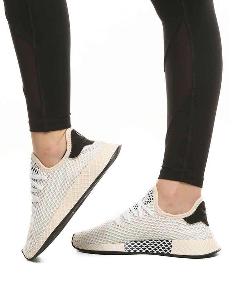 8611858cf Adidas Originals Women s Deerupt Runner Beige Black White
