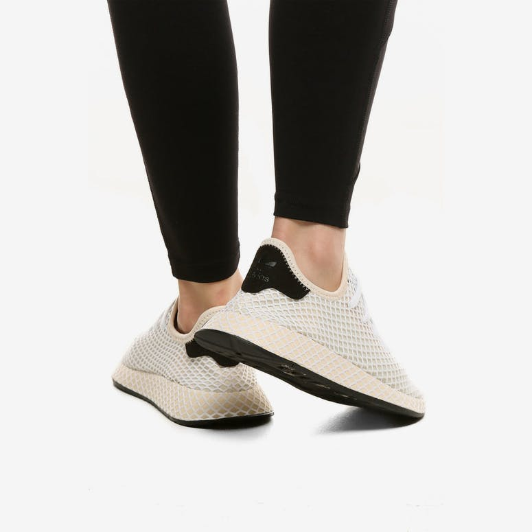 3cf40e81c2f Adidas Originals Women s Deerupt Runner Beige Black White
