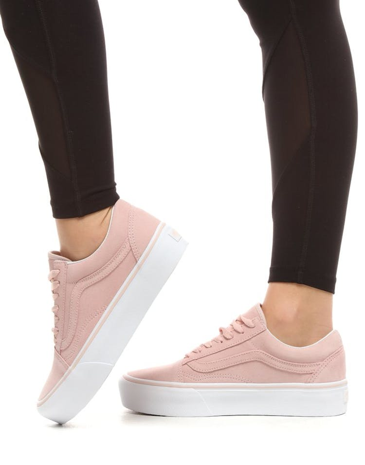 Vans Women's Old Skool Platform Pink/White