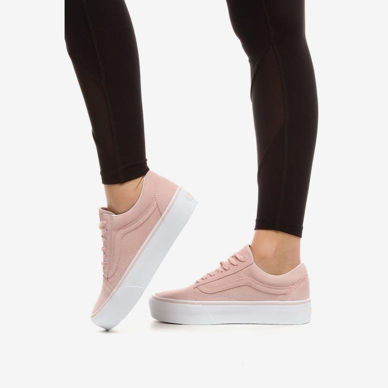 Vans Women s Old Skool Platform Pink White – Culture Kings c9141c9d1