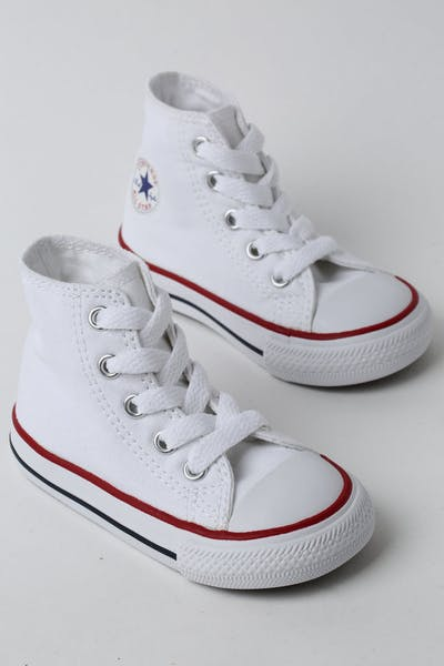 CONVERSE INFANT CHUCK TAYLOR ALL STAR HI WHITE/RED/NAVY