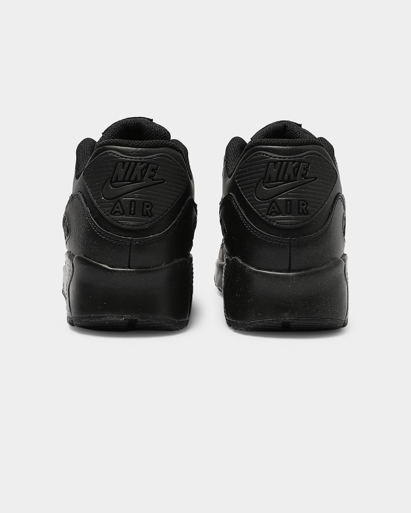 nike air max 90 black leather mens