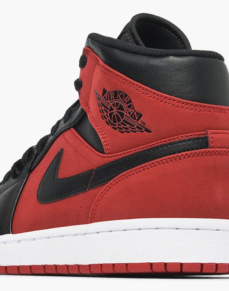 new styles 36737 d2a47 Air Jordan 1 Mid Red/Black/White