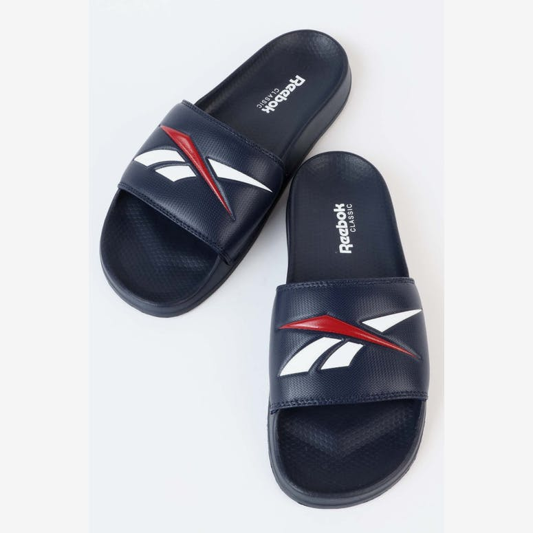 9042c652d0013 Reebok Classic Slide V Navy White Red