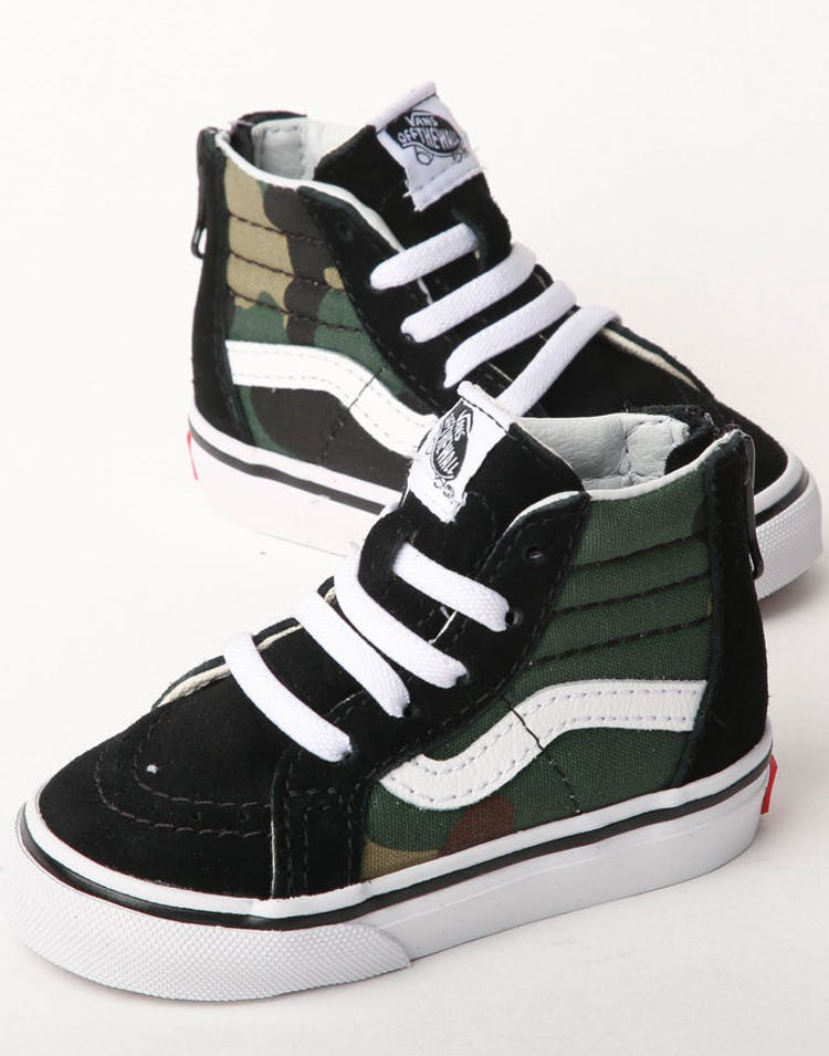 20b1373d8f Vans SK8-HI ZIP Black Camo White – Culture Kings