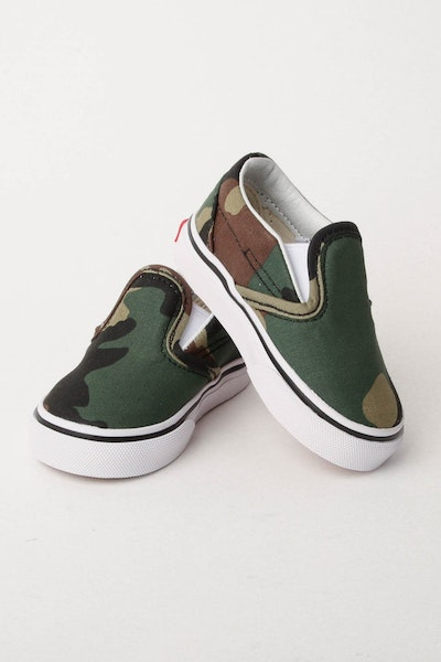 Vans Classic Slip On (Checkerboard) Black/Camo/White