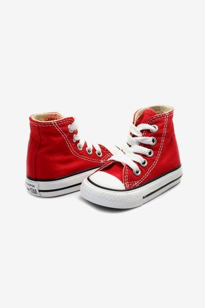 5009b076393d2c Kids. Converse Infant Chuck Taylor All Star Hi Red Black White
