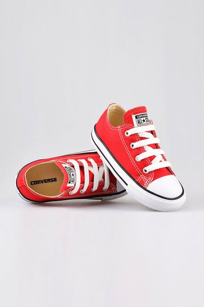 Converse Infant Chuck Taylor All Star Lo Red/Black/White