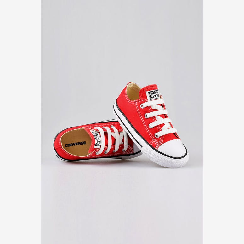 Converse Infant Chuck Taylor All Star Lo Red Black White – Culture Kings 6f1014604