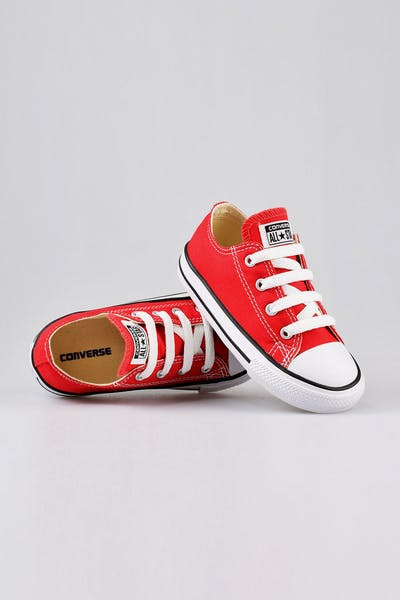 bd72f98ba464 Converse Infant Chuck Taylor All Star Lo Red Black White