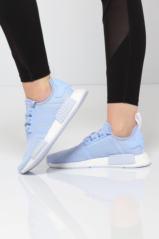 Womens adidas NMD R1 Athletic Shoe Light BlueWhite