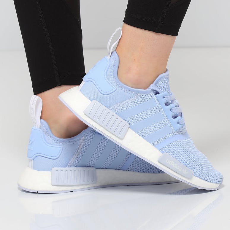dd5c02b3b1f Adidas Women's NMD R1 Light Blue/White