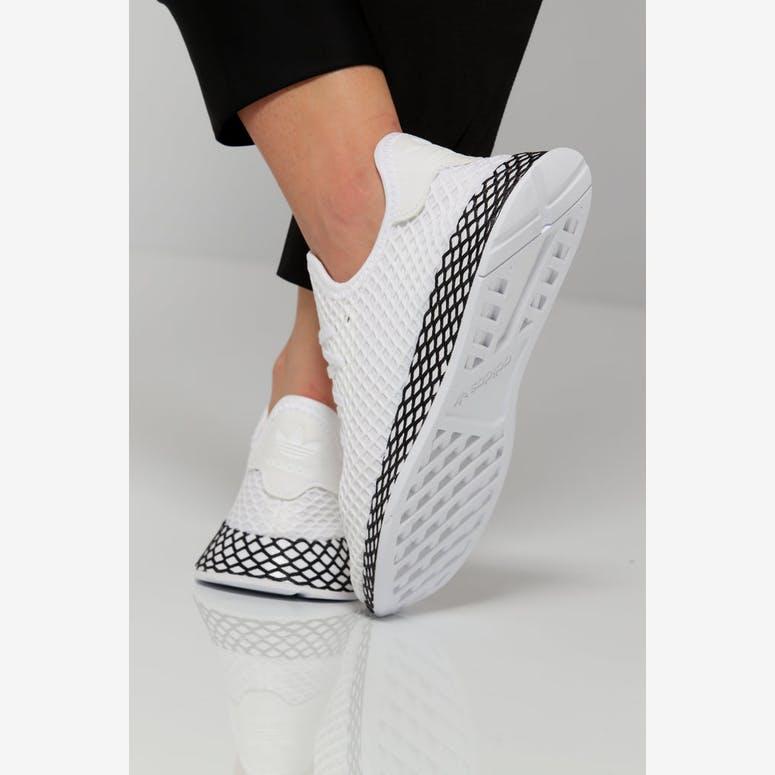 87b924366f9 Adidas Deerupt Runner Junior White Black