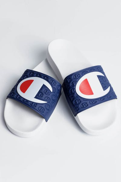 Champion Multi-Lido Slide White/Navy