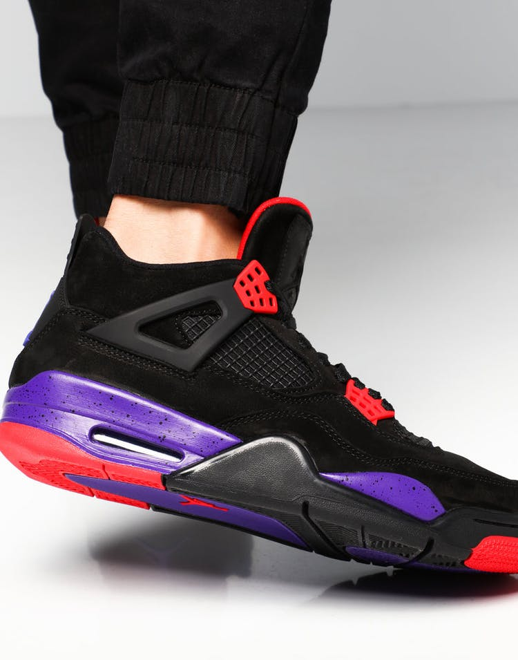 b24531cceef626 Air Jordan 4 Retro NRG Black Purple Red – Culture Kings