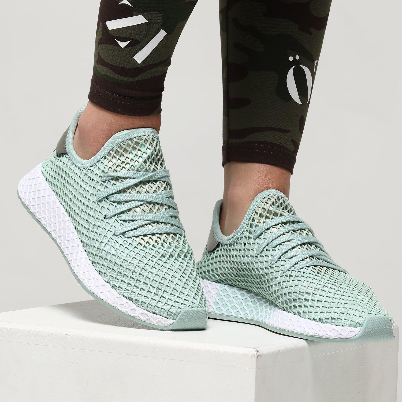 Adidas Women's Deerupt Ash Green/Silver