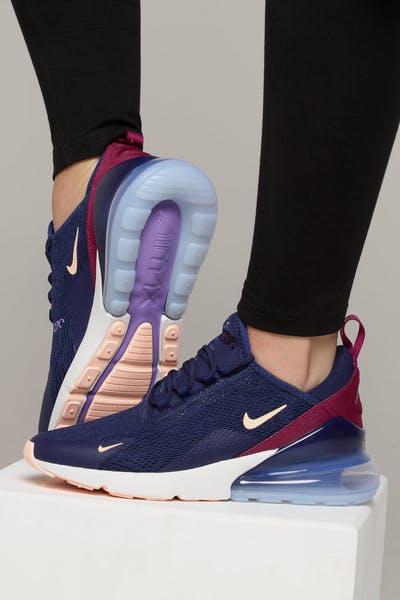 finest selection d3772 5502c Nike Women s Air Max 270 dark Blue Crimson