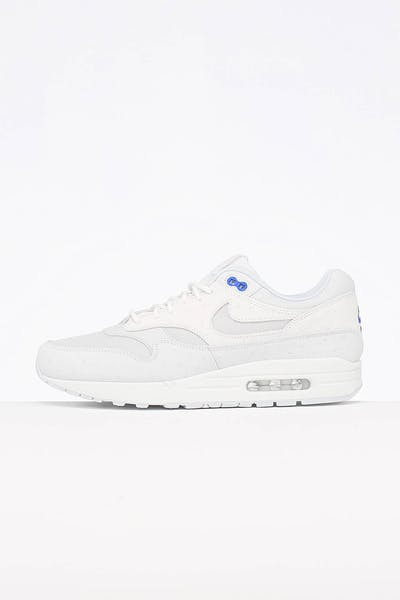 designer fashion 1a851 bfce0 Nike Air Max 1 Premium Platinum Grey White
