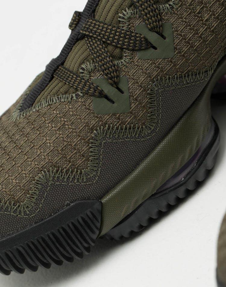 check out 89302 fbcea Nike LeBron XVI Low CP Khaki Black