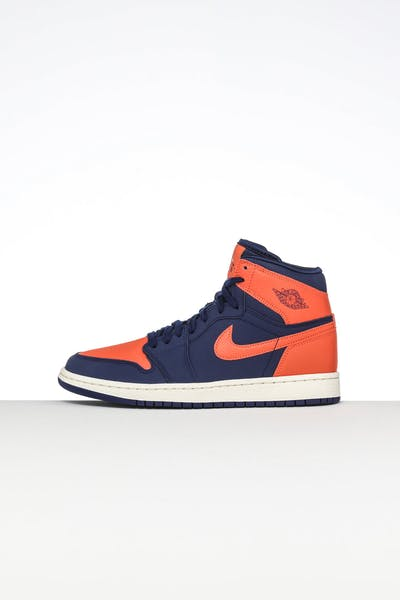654b9f713c82 Jordan Women s Jordan 1 Retro Hi Prem Blue Orange White
