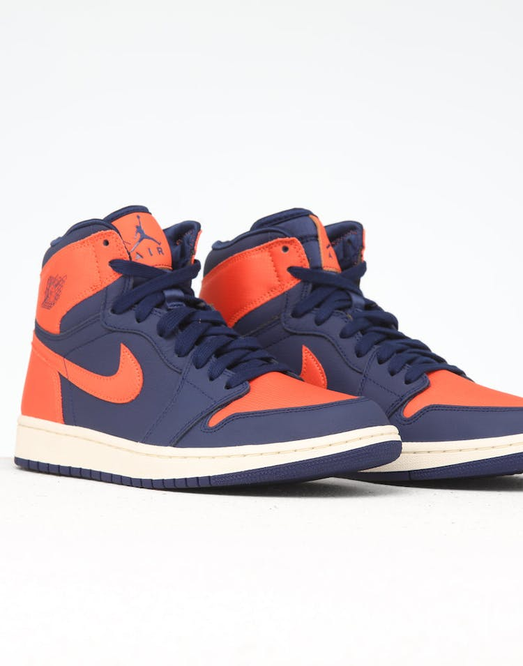 finest selection 0bc68 47b5e Jordan Women's Jordan 1 Retro Hi Prem Blue/Orange/White