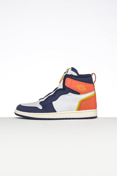 new concept 7d761 91041 Jordan Women s Air Jordan 1 High Zip Sail Blue Orange