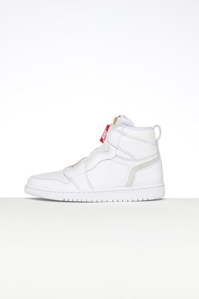 ad02041cb Jordan Women s Air Jordan 1 High Zip White White Red