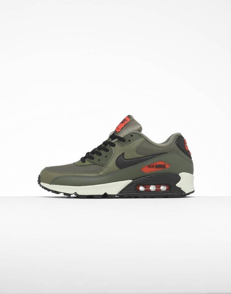 factory authentic 2ac7c ceb38 Nike Air Max 90 Essential Olive Black Orange – Culture Kings