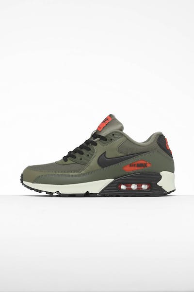 new product 11180 6313d Nike Air Max 90 Essential Olive Black Orange