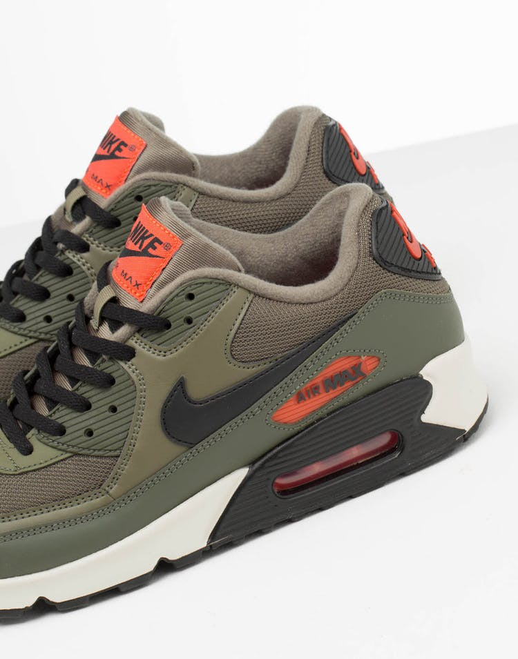 7d71718df Nike Air Max 90 Essential Olive/Black/Orange