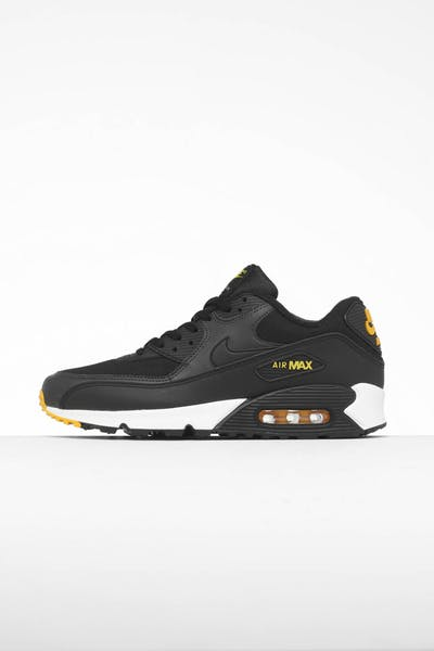 outlet store d46c2 53fb2 Nike Air Max 90 Essential Black Yellow White